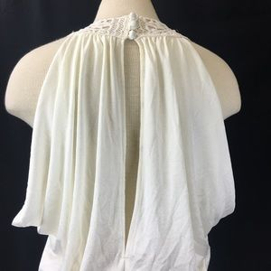 Vintage Dresses - Vintage White Floor Length Grecian Goddess Gown